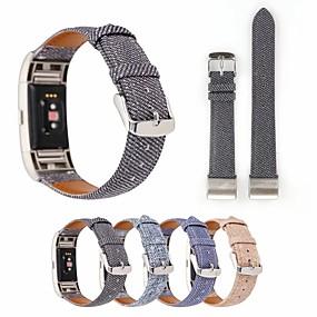 economico Cinturini per Fitbit-Cinturino per orologio  per Fitbit Charge 3 Fitbit Cinturino di pelle Acciaio inossidabile / Vera pelle Custodia con cinturino a strappo
