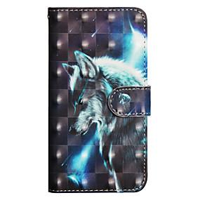 baratos Sony-Capinha Para Sony Xperia XA2 Ultra / Xperia XA1 Ultra Carteira / Porta-Cartão / Com Suporte Capa Proteção Completa Animal Rígida PU Leather para Xperia XZ2 / Xperia XZ2 Compact / Xperia XA2 Ultra