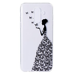 voordelige Galaxy A3(2016) Hoesjes / covers-hoesje Voor Samsung Galaxy A5(2018) / A6 (2018) / A6+ (2018) Patroon Achterkant Vlinder / Sexy dame Zacht TPU