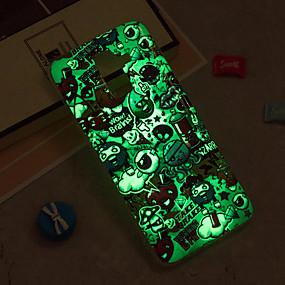 voordelige Galaxy J3 Hoesjes / covers-hoesje Voor Samsung Galaxy J8 / J7 (2017) / J7 (2016) Glow in the dark / IMD / Patroon Achterkant Tegel Zacht TPU