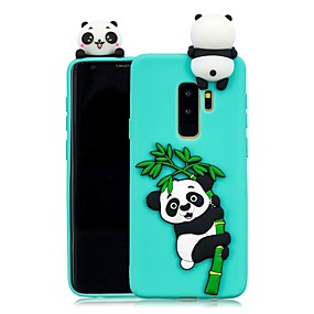 halpa Galaxy S -sarjan kotelot / kuoret-Etui Käyttötarkoitus Samsung Galaxy S9 Plus / S8 Plus DIY Takakuori Panda Pehmeä TPU varten S9 / S9 Plus / S8 Plus