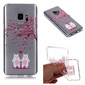 voordelige Galaxy S7 Hoesjes / covers-hoesje Voor Samsung Galaxy S9 / S9 Plus / S8 Plus IMD / Transparant / Patroon Achterkant Cartoon / Boom / Bloem Zacht TPU
