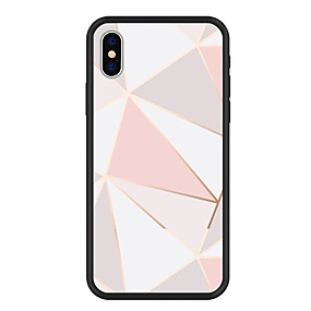 olcso iPhone tokok-Case Kompatibilitás Apple iPhone X / iPhone 8 Plus Minta Fekete tok Mértani formák Kemény Akril mert iPhone XS / iPhone XR / iPhone XS Max