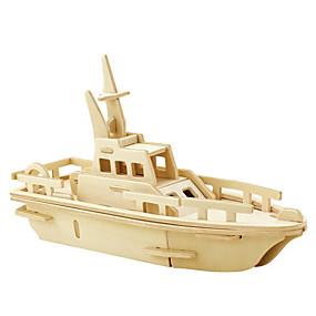 olcso Játékok & hobbi-3D építőjátékok Fejtörő Modeli i makete Repülőgép Harcos Shark DIY tettetés Fa Klasszikus Uniszex Játékok Ajándék