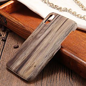 levne iPhone pouzdra-Carcasă Pro Apple iPhone X / iPhone 8 Ultra tenké Zadní kryt Textura dřeva Pevné PC pro iPhone X / iPhone 8 Plus / iPhone 8