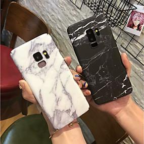 halpa Galaxy S -sarjan kotelot / kuoret-Etui Käyttötarkoitus Samsung Galaxy S9 Plus / S9 Himmeä Takakuori Marble Kova PC varten S9 / S9 Plus / S8 Plus