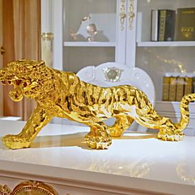 ieftine Casă & Grădină-1 buc cadou de tigru de culoare auriu de lux pentru bărbați, decorațiuni pentru casă, decorațiuni pentru mașină 16cm / 18cm