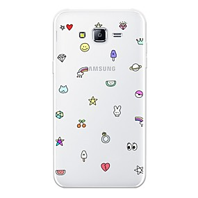 voordelige Galaxy J7 Hoesjes / covers-hoesje Voor Samsung Galaxy J7 (2017) / J7 (2016) / J7 Patroon Achterkant Tegel Zacht TPU