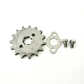 billige Dele til Motorcykel & ATV-modificeret 420-15t-17mm front tandhjul 17mm aksel 15tooth for lifan 125cc motor snavs pit cykel