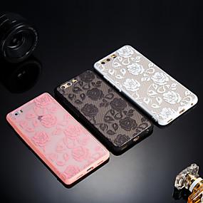 voordelige Huawei Honor hoesjes / covers-hoesje Voor Huawei Huawei Honor 9 Lite / Honor 7X / Honor 7A Mat / Doorzichtig / Reliëfopdruk Achterkant Lace Printing Hard Acryl