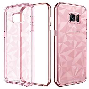 halpa Galaxy S -sarjan kotelot / kuoret-BENTOBEN Etui Käyttötarkoitus Samsung Galaxy S7 edge Iskunkestävä / Pinnoitus / Ultraohut Takakuori Yhtenäinen Pehmeä TPU / PC varten S7 edge