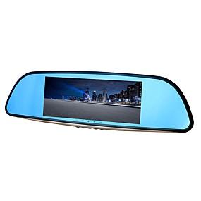 voordelige Auto DVR's-ziqiao xr701 full hd 1080p 7 inch ips nachtzicht auto dvr 140 graden groothoek cmos sensor spiegel camera videorecorder dubbele lens registrar achteraanzicht dvrs dash cam
