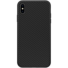 abordables Coques d'iPhone-Nillkin Coque Pour Apple iPhone XS / iPhone XS Max Antichoc / Motif Coque Lignes / Vagues Dur Fibre de carbone pour iPhone XS / iPhone XR / iPhone XS Max
