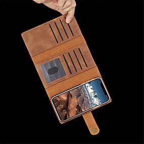 billige CaseMe®-Etui Til Apple iPhone XR / iPhone XS Max Kortholder / Stødsikker / Flip Fuldt etui Ensfarvet Hårdt PU Læder for iPhone XS / iPhone XR / iPhone XS Max