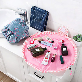 cheap Bathroom Gadgets-Animal Flamingo Cosmetic Bag Professional Drawstring Makeup Case Women Travel Make Up Organizer Storage Pouch Toiletry Wash