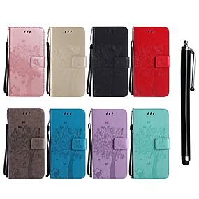 voordelige Huawei Honor hoesjes / covers-hoesje Voor Huawei Honor 9 / Huawei Honor 7i / Huawei Honor V8 Portemonnee / Kaarthouder / met standaard Volledig hoesje Kat / Boom Hard PU-nahka