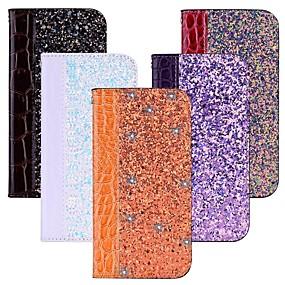 halpa Galaxy S -sarjan kotelot / kuoret-Etui Käyttötarkoitus Samsung Galaxy S9 / S8 Korttikotelo / Tuella / Flip Suojakuori Kimmeltävä Kova PU-nahka varten S9 / S9 Plus / S8 Plus