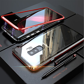 cheap Galaxy S Series Cases / Covers-Case For Samsung Galaxy Galaxy S10 / Galaxy S10 Plus Magnetic Full Body Cases Solid Colored Hard Tempered Glass for S9 / S9 Plus / S8 Plus