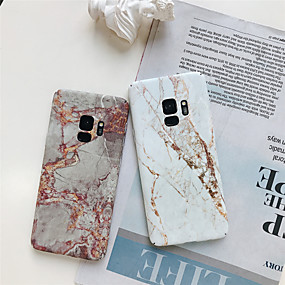 halpa Galaxy S -sarjan kotelot / kuoret-Etui Käyttötarkoitus Samsung Galaxy S9 Plus / S8 Plus Kuvio Takakuori Marble Kova PC varten S9 / S9 Plus / S8 Plus