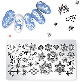 cheap Makeup & Nail Care-1 pcs Stamping Plate Template Cartoon Series Universal / Recyclable nail art Manicure Pedicure Cartoon / European Christmas / Daily