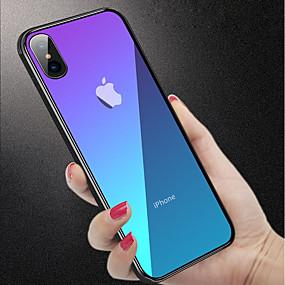 levne iPhone pouzdra-Carcasă Pro Apple iPhone XR / iPhone XS Max Nárazuvzdorné / Průsvitný Zadní kryt Jednobarevné Pevné Tvrzené sklo pro iPhone XS / iPhone XR / iPhone XS Max