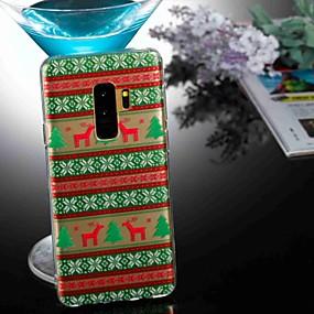 voordelige Galaxy S7 Hoesjes / covers-hoesje Voor Samsung Galaxy S9 / S9 Plus / S8 Plus Transparant / Patroon Achterkant dier / Kerstmis Zacht TPU