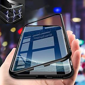 halpa Galaxy S -sarjan kotelot / kuoret-Etui Käyttötarkoitus Samsung Galaxy S9 Plus / S9 Iskunkestävä / Magneetti Takakuori Yhtenäinen Kova Karkaistu lasi varten S9 / S9 Plus / S8 Plus