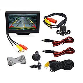 abordables Electrónica de Coche-BYNCG WG4.3T-4LED 4.3 pulgada TFT-LCD 480TVL 480p CMOS a Color de 1/4 Pulgadas Con Cable 120 Grados 1 pcs 120 ° 4.3 pulgada Cámara de Visión Trasera / Monitor de marcha atrás del coche / Kit de vista