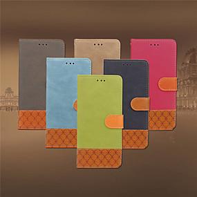 halpa iPhone 5S / SE kotelot-Etui Käyttötarkoitus Apple iPhone XR / iPhone XS Max Korttikotelo / Iskunkestävä / Tuella Suojakuori Yhtenäinen / Geometrinen printti Kova tekstiili varten iPhone XS / iPhone XR / iPhone XS Max