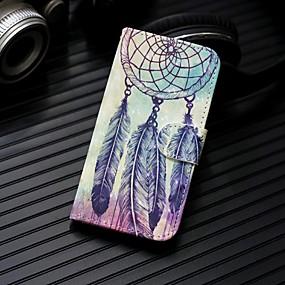 voordelige Galaxy S7 Hoesjes / covers-hoesje Voor Samsung Galaxy S9 / S9 Plus / S8 Plus Portemonnee / Kaarthouder / met standaard Volledig hoesje Dromenvanger Hard PU-nahka