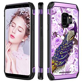 halpa Galaxy S -sarjan kotelot / kuoret-BENTOBEN Etui Käyttötarkoitus Samsung Galaxy S9 Plus Iskunkestävä / Pinnoitus / Kuvio Takakuori Kasvit / Eläin / Kukka Kova TPU / PC varten S9 Plus
