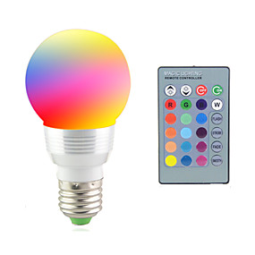 billiga Smarta LED-glödlampor-2 W LED-scenelys 2700-7000 lm E14 E26 / E27 1 LED-pärlor Högeffekts-LED Fjärrstyrd Dekorativ RGB 85-265 V / 1 st / RoHs / CCC