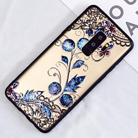 voordelige Galaxy S7 Edge Hoesjes / covers-hoesje Voor Samsung Galaxy S9 / S9 Plus / S8 Plus Doorzichtig / Patroon Achterkant Bloem Hard PC