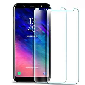 halpa Samsung suojakalvot-Näytönsuojat varten Samsung Galaxy A6+ (2018) Karkaistu lasi 1 kpl Näytönsuoja Teräväpiirto (HD) / 9H kovuus / 2,5D pyöristetty kulma