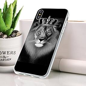 levne Pouzdra iPhone XS-Carcasă Pro Apple iPhone XS Prachuodolné / Ultra tenké / Vzor Zadní kryt Zvíře / Lev Měkké TPU pro iPhone XS