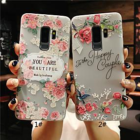 Χαμηλού Κόστους Θήκες / Καλύμματα Galaxy S Series-tok Για Samsung Galaxy S9 Plus / S9 Παγωμένη / Ημιδιαφανές / Ανάγλυφη Πίσω Κάλυμμα Λουλούδι Μαλακή TPU για S9 / S9 Plus / S8 Plus