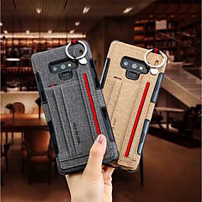 billige Etuier / covers til Galaxy Note-modellerne-Etui Til Samsung Galaxy Note 9 / Note 8 Kortholder Bagcover Ensfarvet Hårdt Tekstil for Note 9 / Note 8