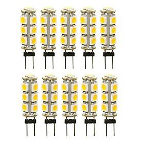 abordables Luces LED de Doble Pin-SENCART 10pcs 3 W Luces LED de Doble Pin 180 lm G4 T 13 Cuentas LED SMD 5050 Decorativa Blanco Cálido Blanco Rojo 12 V