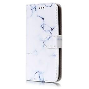 voordelige Galaxy J5 Hoesjes / covers-hoesje Voor Samsung Galaxy J7 (2016) / J7 / J5 (2017) Portemonnee / Kaarthouder / met standaard Volledig hoesje Marmer Hard PU-nahka