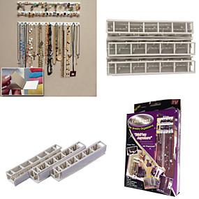 billige Opbevaring og organisering-9 i 1 bling eez klæbende kroge smykker arrangør smykker opbevaringskrog kombination klæbrig kroge væg klistermærker sæt