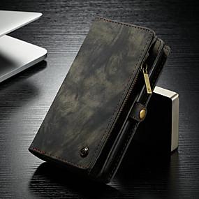 abordables CaseMe®-CaseMe Coque Pour Samsung Galaxy S9 Plus Portefeuille / Porte Carte / Avec Support Coque Intégrale Couleur Pleine Dur faux cuir pour S9 Plus