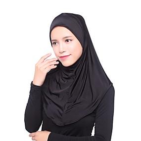 economico Sciarpe e scialli-Per donna Multistrato, Essenziale Hijab - Rayon Tinta unita / Per tutte le stagioni