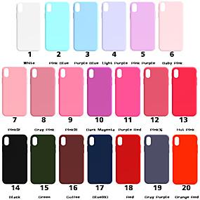 levne iPhone pouzdra-pouzdro pro Apple iphone xr xs xs max matné zadní kryt pevné barevné měkké tpu pro iPhone x 8 8 plus 7 7plus 6s 6s plus se 5 5s