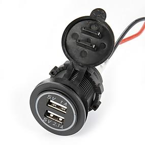 זול מטענים לרכב-כפול מטען לרכב USB. 5V 2.1a