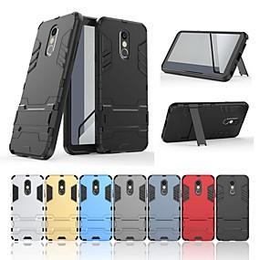 저렴한 LG-케이스 제품 LG LG Stylo 4 충격방지 / 스탠드 뒷면 커버 솔리드 / 갑옷 하드 PC 용 LG Stylo 4