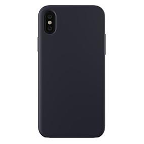 abordables Coques d'iPhone-cas pour iphone xr xs xs max couverture arrière anti-choc / ultra-mince / givré solide pc de couleur pour iphone x 8 8 plus 7 7plus 6s 6s plus se 5 5s