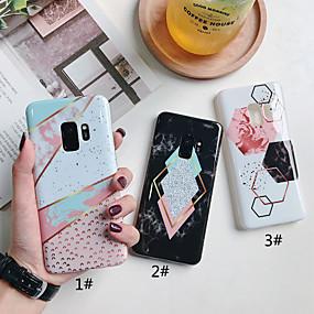 voordelige Galaxy S7 Hoesjes / covers-hoesje Voor Samsung Galaxy S9 / S9 Plus / S8 Plus IMD / Patroon Achterkant Geometrisch patroon / Marmer Zacht TPU