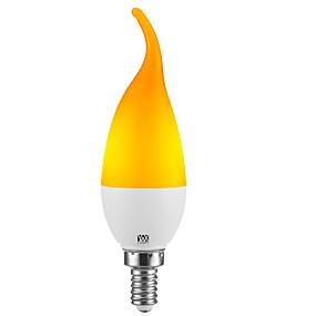 billige LED-stearinlyspærer-YWXLIGHT® 1pc 2 W LED-stearinlyspærer 100-200 lm E14 E12 C35L 39 LED Perler SMD 2835 Fest Dekorativ Jul bryllup dekoration Gul 100-240 V