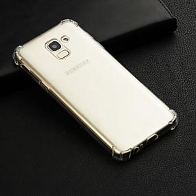 voordelige Galaxy Grand Prime Hoesjes / covers-hoesje Voor Samsung Galaxy J7 (2017) / J7 (2016) / J7 Transparant Achterkant Effen Zacht TPU