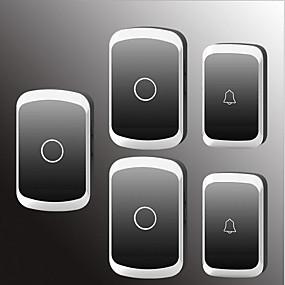 billige Dørklokke Systemer-Factory OEM Trådløs To til tre dørklokke Musik / Ding Dong Ikke-visuelle dørklokker